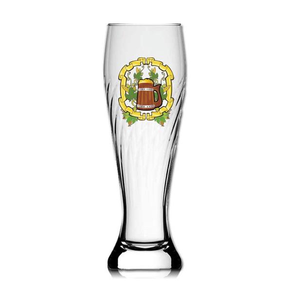 Weizenbierglas gedreht 0,5L bedrucken