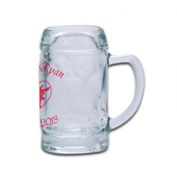 Minimaßkrug Glas 4cl bedrucken